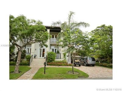 Key Biscayne Single Family Home For Sale: 462 Ridgewood Rd