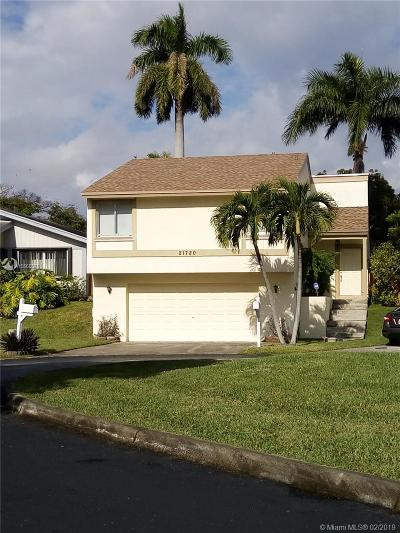 Cutler Bay Single Family Home For Sale: 21720 SW 99th Pl