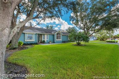 Miami Single Family Home Active With Contract: 14840 SW 153rd Ter