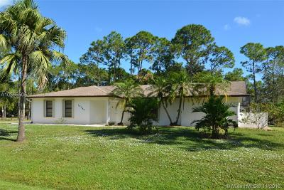 Jupiter Single Family Home For Sale: 18340 Mellen Lane