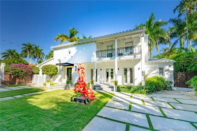 Miami Beach Single Family Home For Sale: 5835 N Bay Rd