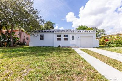 Miami Springs Single Family Home Sold: 616 East Dr