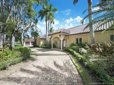 Coral Gables Single Family Home For Sale: 12601 Old Cutler Rd