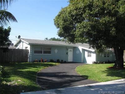 Pompano Beach Single Family Home For Sale: 2431 NE 3rd Ave