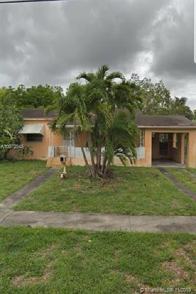 Miami Springs Single Family Home For Sale: 640 Miller Dr
