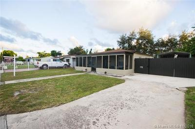 Miami Gardens Single Family Home For Sale: 2440 NW 155th St