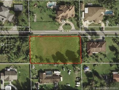 Broward County Residential Lots & Land For Sale: 14 SW St