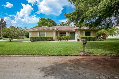 Coral Springs Single Family Home Active With Contract: 10753 NW 19th St