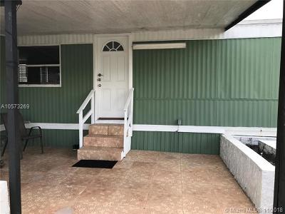 Miramar FL Single Family Home For Sale: $70,000