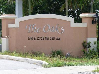 Miami Gardens Condo For Sale: 17602 NW 25th Ave #110