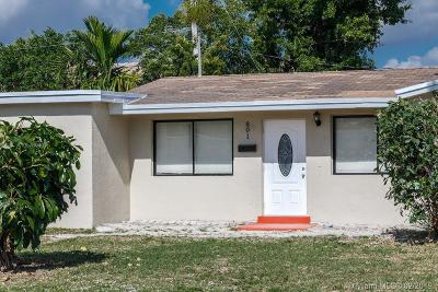 Miami Gardens Single Family Home Active With Contract: 801 NW 172nd Ter