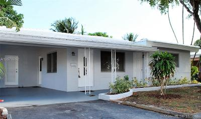 Oakland Park Single Family Home For Sale: 4780 NE 6th Ave