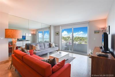 Miami Beach Condo For Sale: 465 Ocean Dr #519