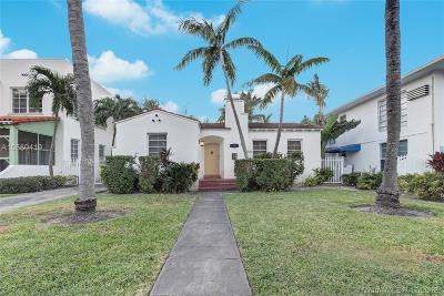 Miami Beach Single Family Home For Sale: 1560 Michigan Ave