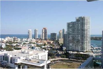 Miami Beach Condo For Sale: 650 West Ave #2810
