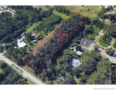 Broward County Residential Lots & Land For Sale: SW 185 Way