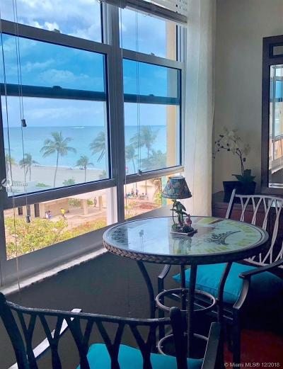Hollywood Condo For Sale: 2501 S Ocean Dr #503