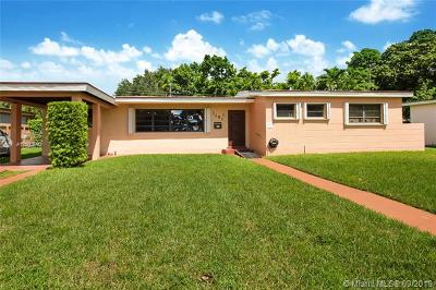Miami Springs Single Family Home For Sale: 1161 Nightingale Ave