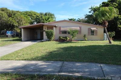 Oakland Park Single Family Home For Sale: 5950 NE 2nd Ter
