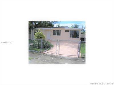 North Miami Beach Single Family Home For Sale: 1540 NE 155th Ter