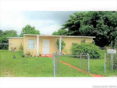Opa-Locka Single Family Home For Sale: 15825 NW 22nd Ct
