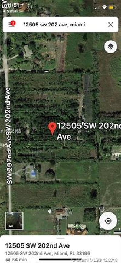 Residential Lots & Land For Sale: 12505 SW 202