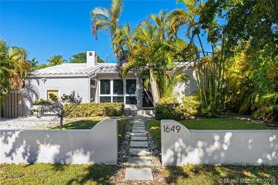 Miami Beach Single Family Home For Sale: 1649 Bay Dr