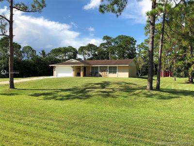 Loxahatchee Single Family Home Active With Contract: 14429 N 60th Ct N