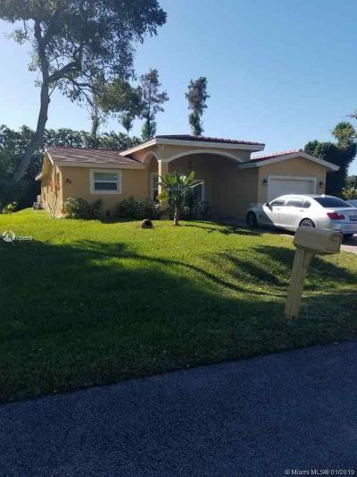 Plantation Single Family Home For Sale: 12290 NW 20th Ct