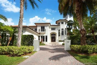 Key Biscayne Single Family Home For Sale: 365 Gulf Rd