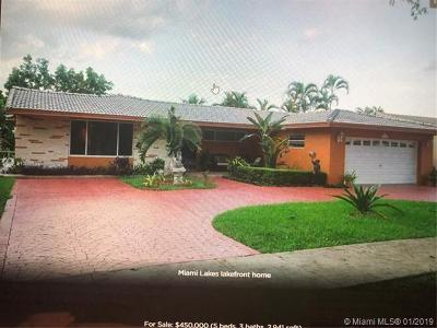Miami Lakes Single Family Home For Sale: 14412 Rosewood Rd