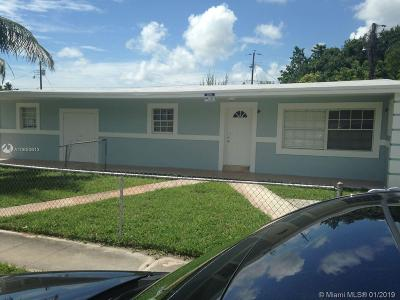 Opa-Locka Single Family Home For Sale: 740 West Dr