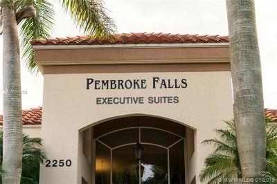 Pembroke Pines Commercial For Sale: 2250 Pembroke Falls Blvd #100A