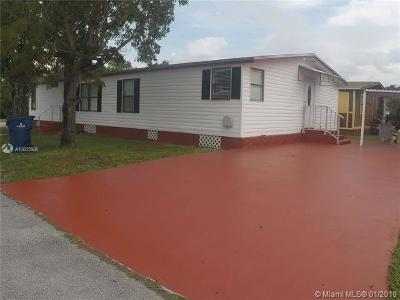 Miami Gardens Single Family Home For Sale: 5426 NW 204th St Lot 776