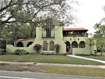 Coral Gables Single Family Home Active With Contract: 1148 Alhambra Cir