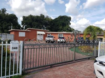 Opa-Locka Single Family Home Active With Contract: 340 Codadad St