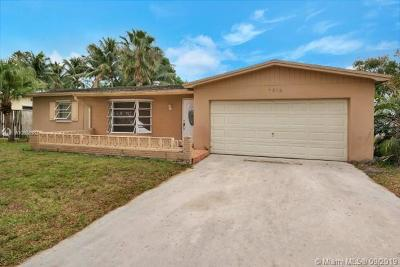 Margate Single Family Home Active With Contract: 7914 NW 1st St