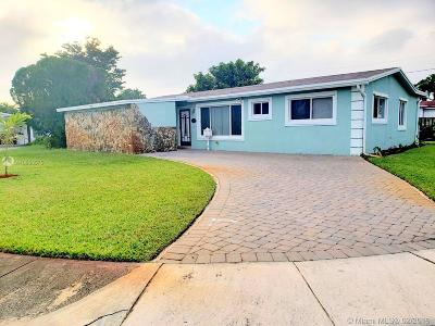 Sunrise Single Family Home Sold: 6270 NW 16th Place