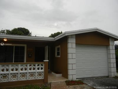 Lauderdale Lakes Single Family Home For Sale: 3541 NW 33rd Ave