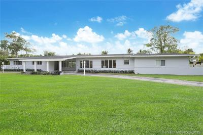 Pinecrest Single Family Home For Sale: 6800 SW 124th St