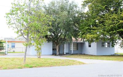 Hallandale Single Family Home Sold: 700 SW 9th St