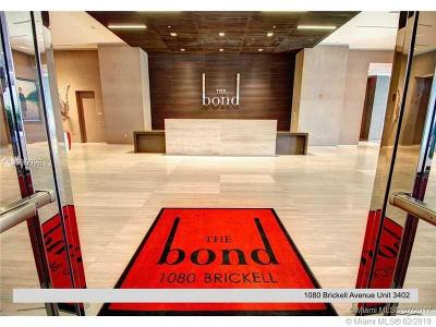 The Bond, The Bond (1080 Brickell), The Bond On Brickell, The Bondo (1080 Brickell) Rental For Rent: 1080 Brickell Ave #3402