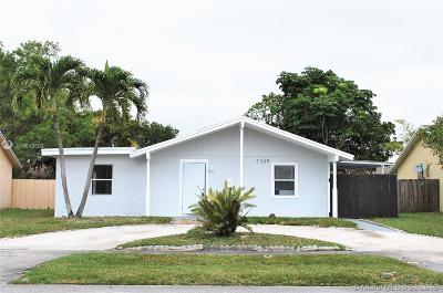 North Lauderdale Single Family Home Active With Contract: 7309 SW 8th Ct