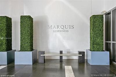 Marquis Condo, Marquis Condominium, Marquis Residences Rental For Rent: 1100 Biscayne Blvd #2705