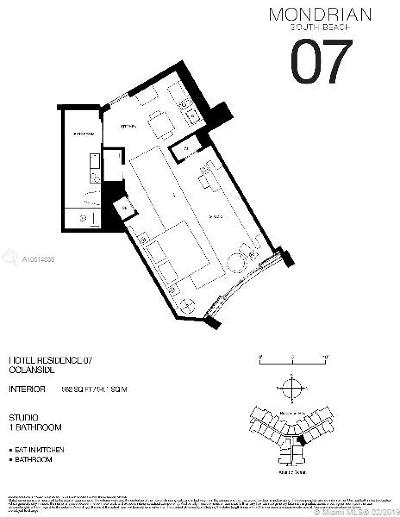 1100 West, 1100 West A Condo, 1100 West Ave Condo, 1100 West Avenue, 1100 West Avenue Property, 1100 West Condo, Monderian, Mondiran Condominium, Mondrain Condo/Hotel, Mondrian, Mondrian Condo, Mondrian Hotel, Mondrian Residences, Mondrian South, Mondrian South Beach, The Mondrian Condo For Sale: 1100 West Ave #1407