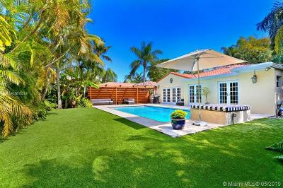 Coconut Grove Single Family Home For Sale: 2441 Tigertail Ave