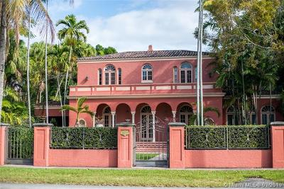 Coral Gables Single Family Home For Sale: 709 N Greenway Dr
