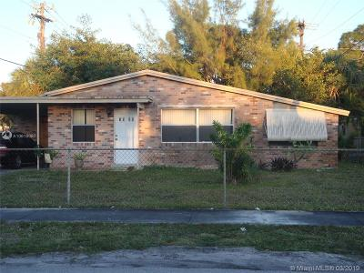 Fort Lauderdale Single Family Home For Sale: 1080 NW 25th Way