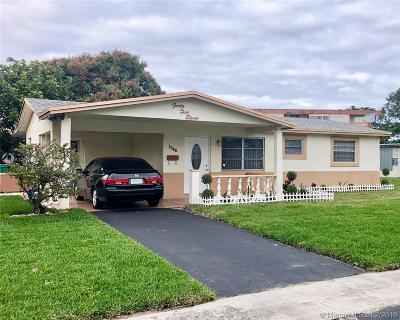 Lauderhill Single Family Home Active With Contract: 4511 NW 27th St