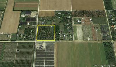 Homestead Commercial Lots & Land Active With Contract: 19985 SW 296th St
